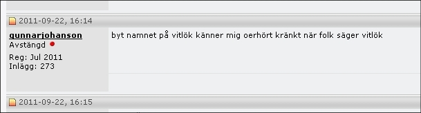 "Ur Internet Bestiarium, under artfamiljen ""Di slöe knivur""."
